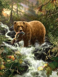 Grizzly Gorge Wildlife Jigsaw Puzzle