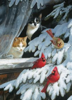 Bird Watchers SMALL BOX Winter Jigsaw Puzzle