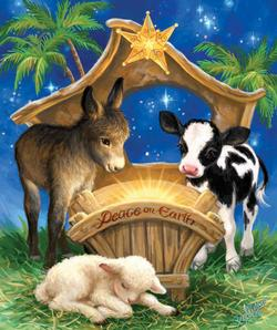Born in a Manger Religious Jigsaw Puzzle
