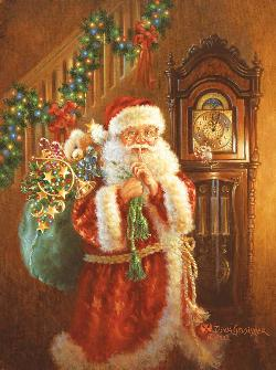 Just After Midnight Santa Jigsaw Puzzle