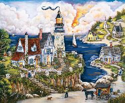 Pelican Point Lighthouse Lighthouses Jigsaw Puzzle