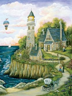 Love Lighthouse Seascape / Coastal Living Jigsaw Puzzle