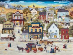 Dr. Miracle's Golden Discovery Folk Art Jigsaw Puzzle