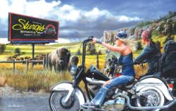 Heading for Sturgis Motorcycles Jigsaw Puzzle