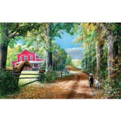 The Road to the General Store - Scratch and Dent General Store Jigsaw Puzzle