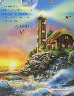 Lighthouse at Sunset (Inspirations) Sunrise/Sunset Jigsaw Puzzle