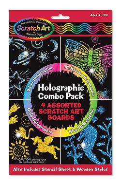 Holographic Scratch Art Combo Pack Arts and Crafts