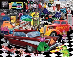 Doo-Wop Cars Large Piece