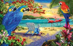 Secluded Beach Sunrise/Sunset Jigsaw Puzzle