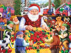 Santa's Quilting Bee Christmas Jigsaw Puzzle