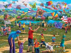 Kites in the Park Outdoors Jigsaw Puzzle