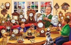 The Clock Shop People Jigsaw Puzzle
