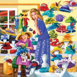 Rosie's Hat Shop Collage Jigsaw Puzzle