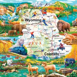 Rocky Mountain Vista Wildlife Jigsaw Puzzle