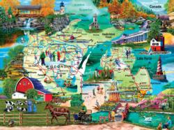 The Great Lakes - Scratch and Dent Maps Jigsaw Puzzle