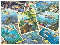 Fishing Frenzy - Scratch and Dent Fish Jigsaw Puzzle