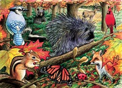 Eastern Woodlands Wildlife Tray Puzzle