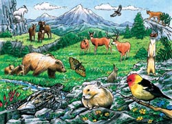 Rocky Mountain Wildlife Wildlife Tray Puzzle