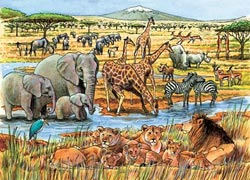 Out of Africa, (tray) Zebras Children's Puzzles