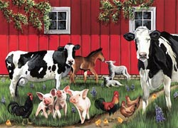 Red Barn Farm Farm Animals Tray Puzzle
