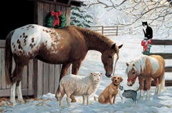 Barnyard Greetings Winter Children's Puzzles