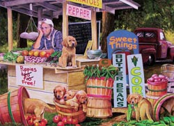 Puppies For Free Food and Drink Children's Puzzles