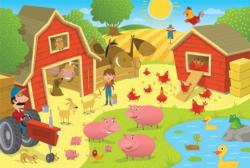 Pig Pen (Tray) Chickens & Roosters Children's Puzzles