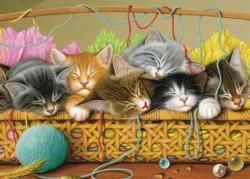 Kittens in Basket Cats Children's Puzzles