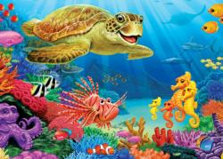 Undersea Turtle Fish Children's Puzzles