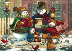 Snowman Family Winter Jigsaw Puzzle