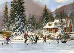 Hockey Pond Winter Tray Puzzle