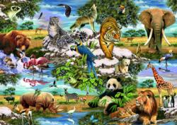 Animals of the World Collage Jigsaw Puzzle