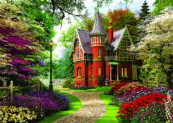 Victorian Cottage Flowers Jigsaw Puzzle