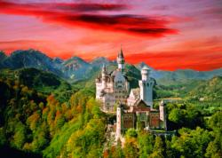 The Neuschwanstein Castle, Bavaria Landscape Jigsaw Puzzle