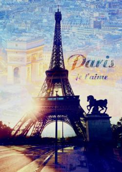 Paris at Dawn Paris Jigsaw Puzzle