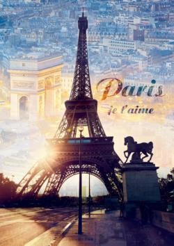 Paris at Dawn Eiffel Tower Jigsaw Puzzle