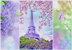 Romantic Spring In Paris Eiffel Tower Jigsaw Puzzle