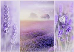 Romantic Lavender Field Landscape Jigsaw Puzzle