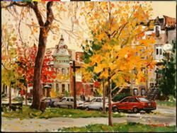 Fall Day, Saint-Louis Square Nostalgic / Retro Jigsaw Puzzle