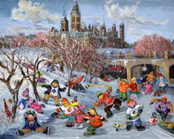 Fun on the Rideau Canal Lakes / Rivers / Streams Jigsaw Puzzle