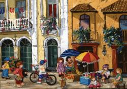 Summertime Street Scene Jigsaw Puzzle