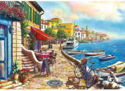 Sunny Embankment Seascape / Coastal Living Jigsaw Puzzle