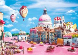 Funny Cities - Sweets In Venice Sweets Jigsaw Puzzle