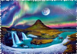 Aurora Over Iceland Landscape Impossible Puzzle