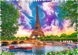 Sky Over Paris Eiffel Tower Jigsaw Puzzle