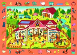 Observation Farm / Ferme Educational Children's Puzzles