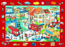 Observation Fire Station / Caserne de pompier Educational Children's Puzzles