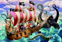 Battle On The Sea Pirates Jigsaw Puzzle