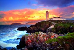 Fanad Head Lighthouse, Ireland Sunrise/Sun Jigsaw Puzzle