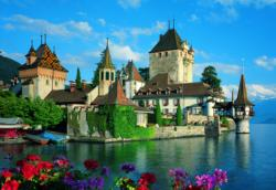 Oberhofen Castle, Switzerland Europe Jigsaw Puzzle